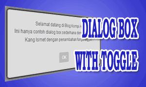 Dialog Box Dengan Penambahan Fungsi Toggle