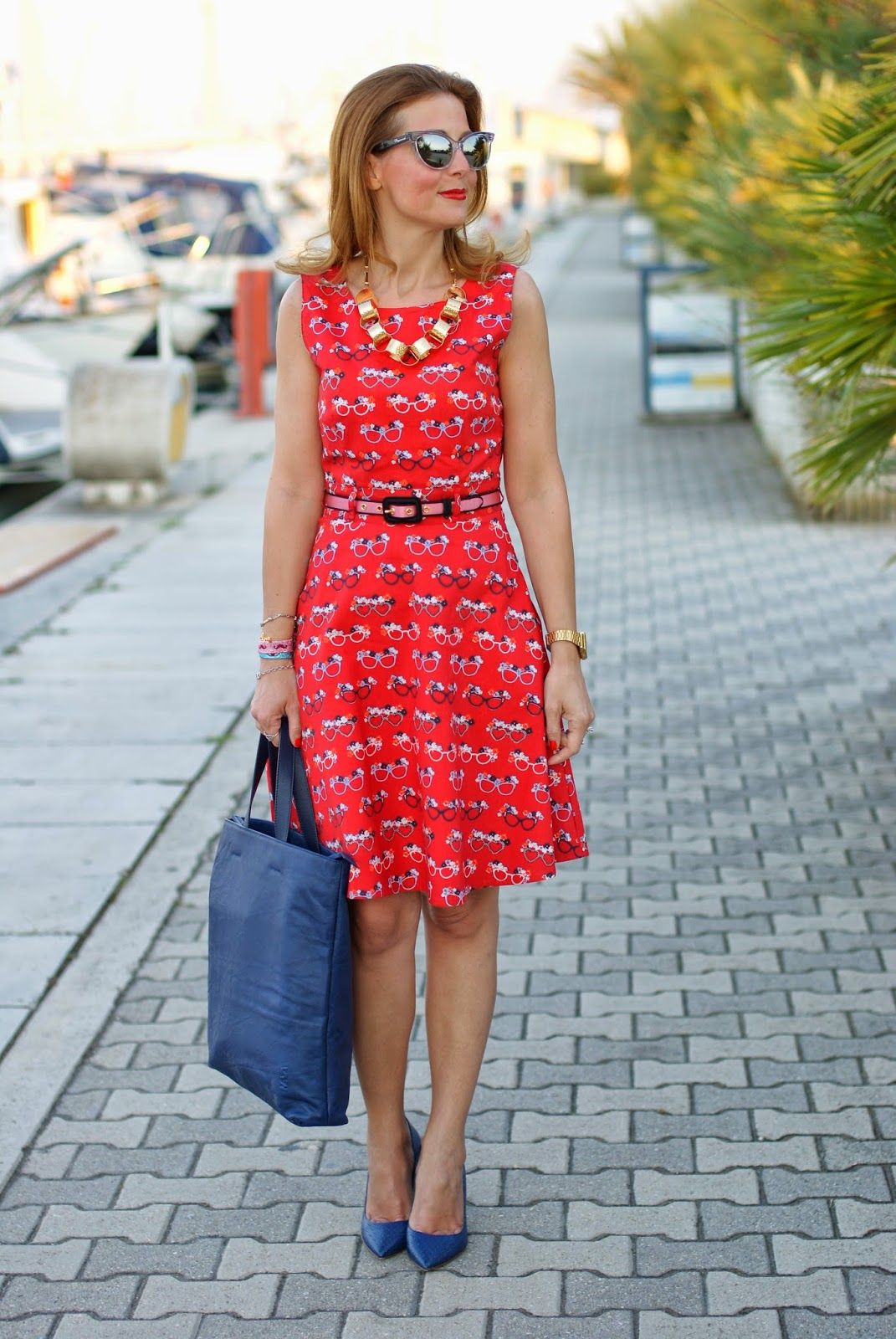glasses print dress, romwe milk bag, sergio levantesi shoes, Fashion and Cookies, fashion blogger