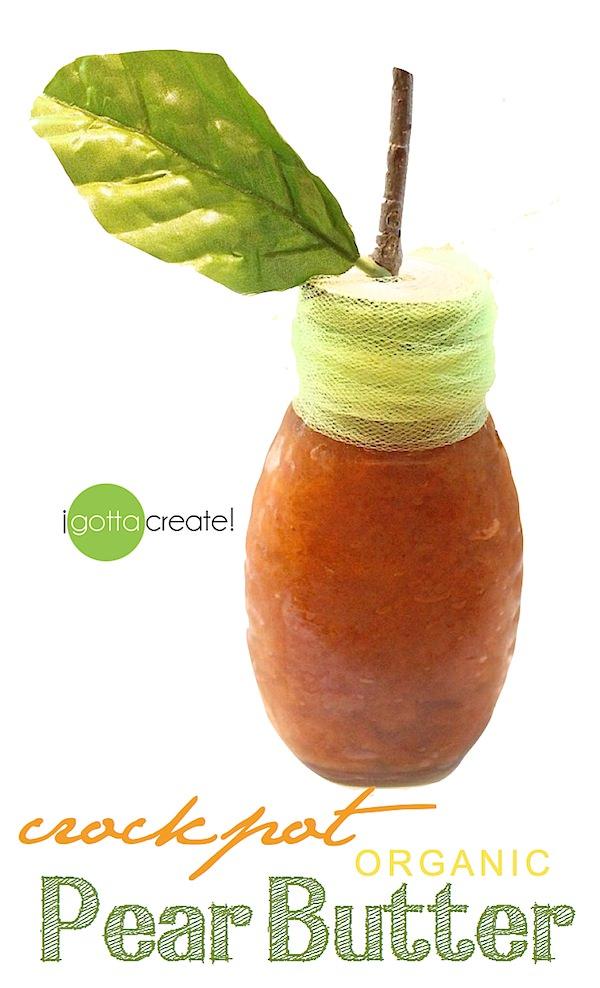 Small batch #crockpot pear butter -- yum!    Recipe at I Gotta Create!