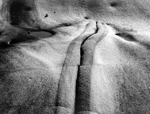 masters of photography : Minor White : photo of rock shapes