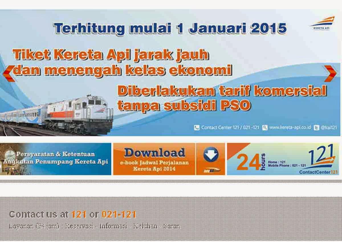 Subsidi PSO Dihapus, Tarif KA Ekonomi Naik Per 1 Januari 2015