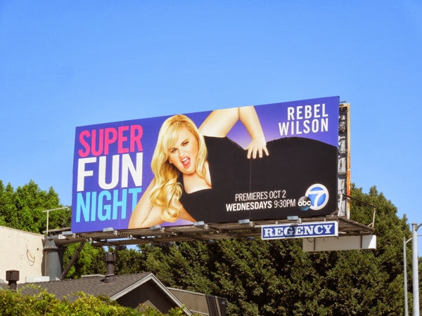 Super Fun Night series premiere billboard