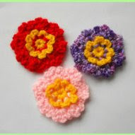 crochet simple flower