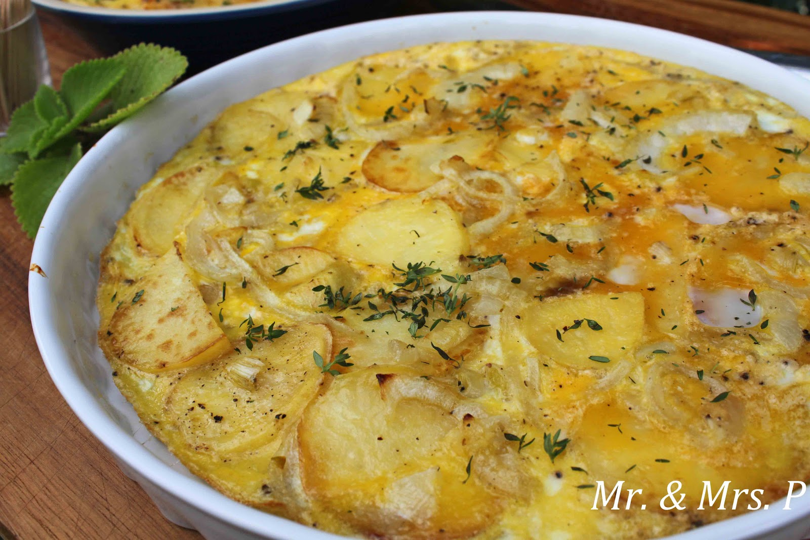 Pictured Above: Tortilla Española with Potatoes and Onions)