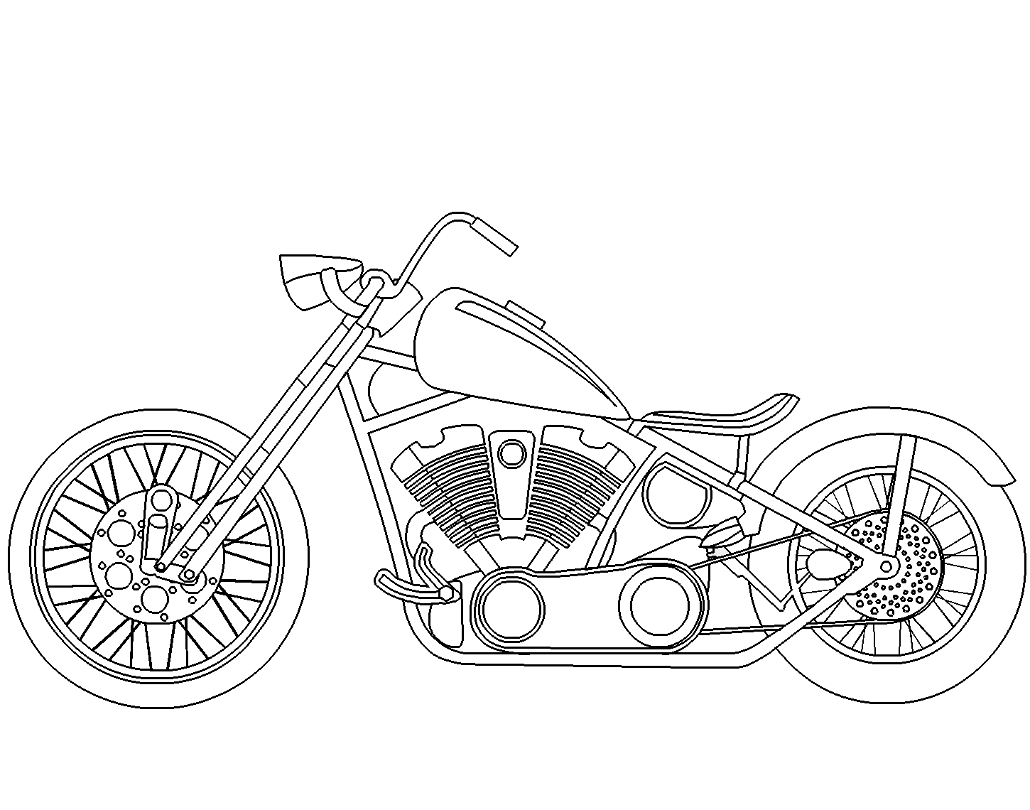 printable motorcycle coloring pages - motorcycle coloring pages coloring pages