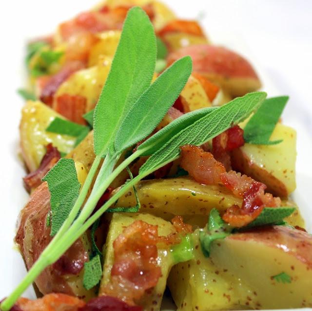 Warm Bacon Potato Salad with a Sage Mustard Vinaigrette - 52 Side ...