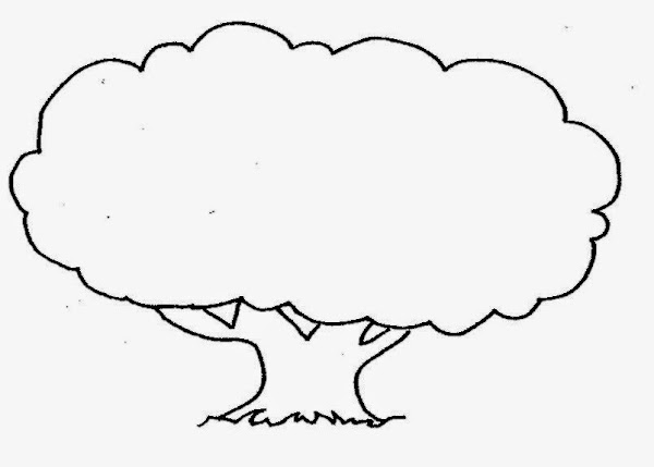 Printable Trees Coloring Pages for Kids
