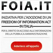APPELLO PER L'ADOZIONE DI UN FREEDOM OF INFORMATION ACT IN ITALIA