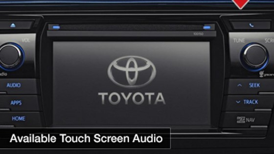 Touch screen Audio, toyota corolla, 2014