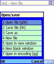 Dedit Text Editor Nokia S60v2