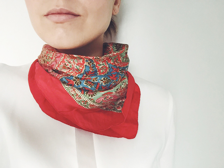 Neck scarf, liberty of london, silk scarf, fashion over reason