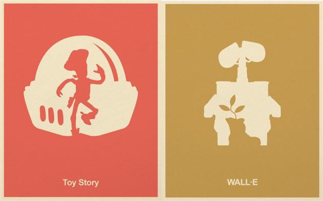 Insarde Minimalist Pixar Posters Collection
