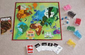 Risk board game contents.