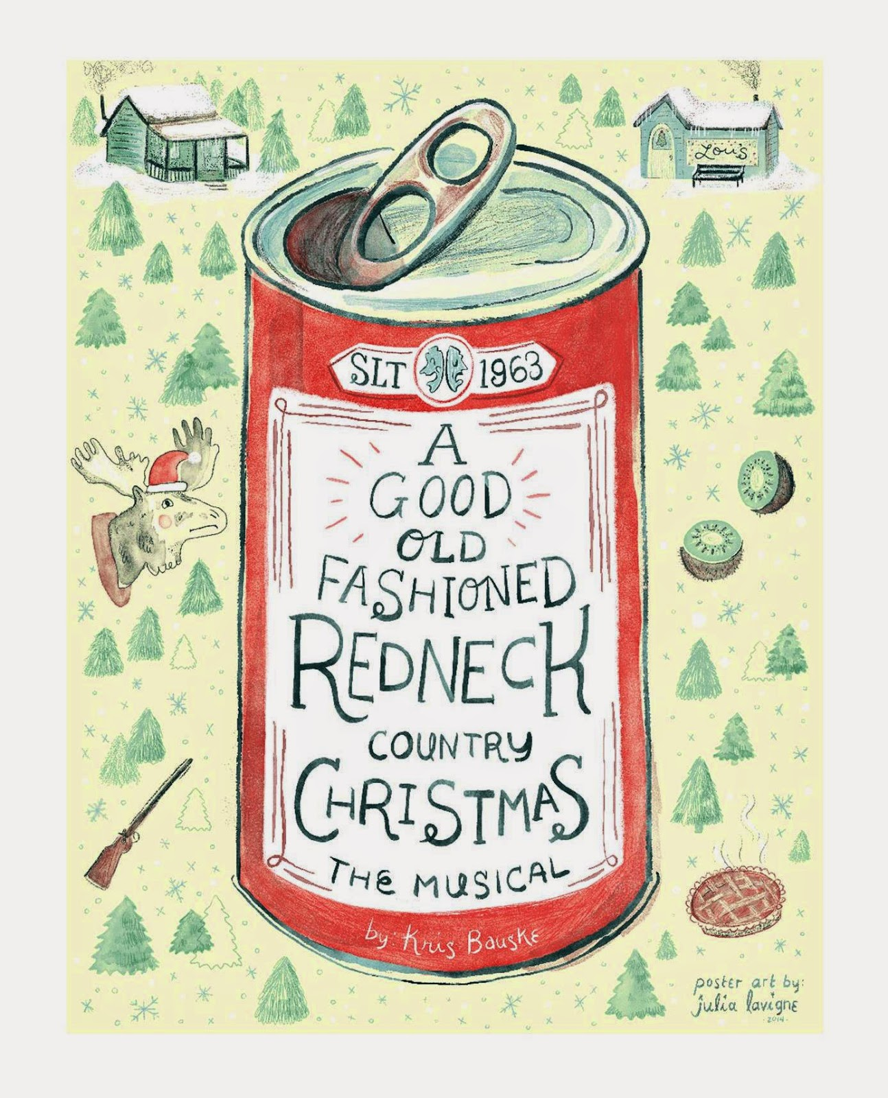 Xmas poster design - Discover More Of Julia S Work At Www Floating Heads Net