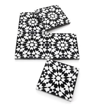 Black White Morrocan Maroc Tiles