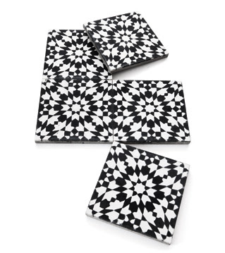 Black White Morrocan Maroc Tiles