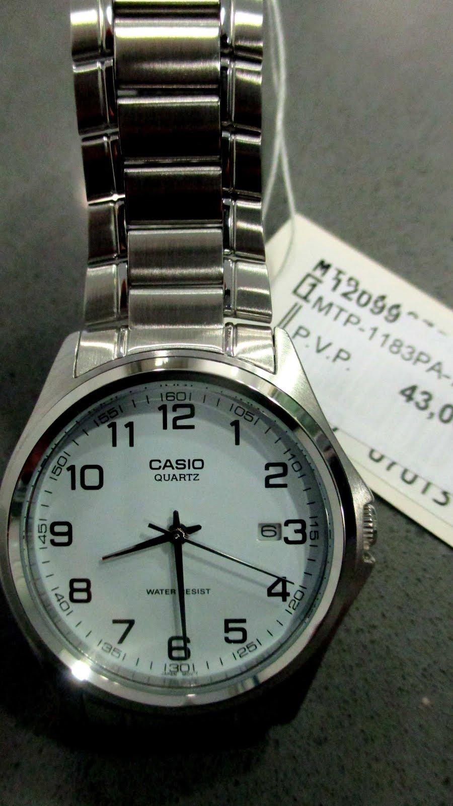 Reloj Casio, caballero, acero, calendario...