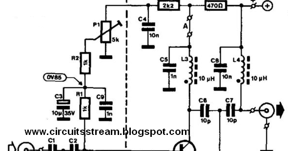 simple uhf tv line amplifier wiring diagram schematic