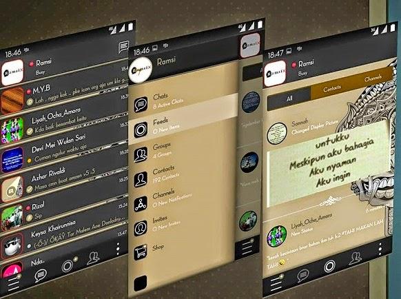 BBM Mod Aksara v2.7.0.23 Android