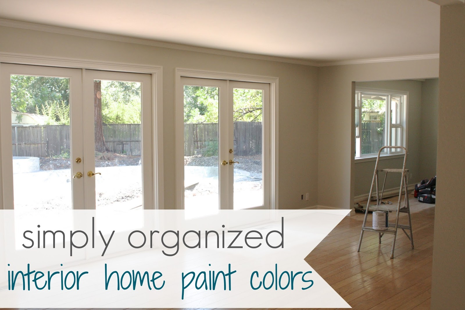 simply organized home paint colors main