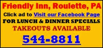 Lunch & Dinner Specials At Friendly Inn