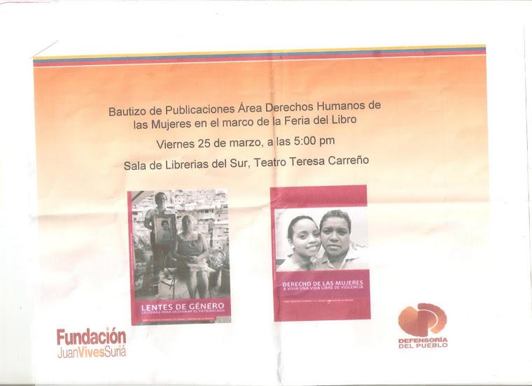 Bautizo de Publicaciones en Drechos Humanos de las mujeres