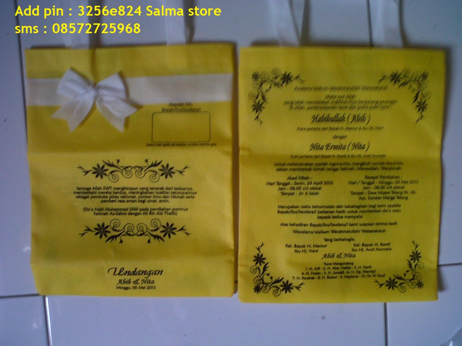 Koleksi Pesanan Undangan Pernikahan Polos
