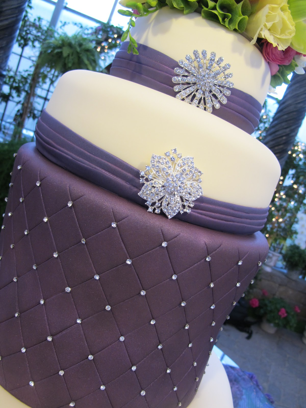 Purple Chocolat Home Purple Bling Bling Wedding Cake