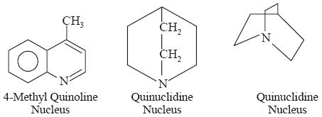 Basic Structures of Cinchona Alkaloids The various quinoline alkaloids
