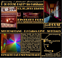 GUTSHOUSE Ü30 PARTY Flyer Bild