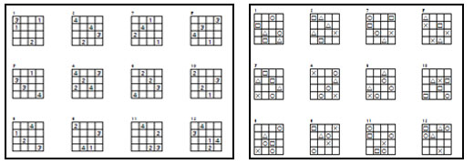 Sudoku 4x4 para nios  Sudoku para imprimir  RUTAS DEL APRENDIZAJE