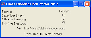 #Cheat Atlantica Hack 29 Mei 2012 By Mars Celebrity [HOT]
