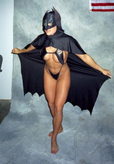 Half Nude Bat Girl