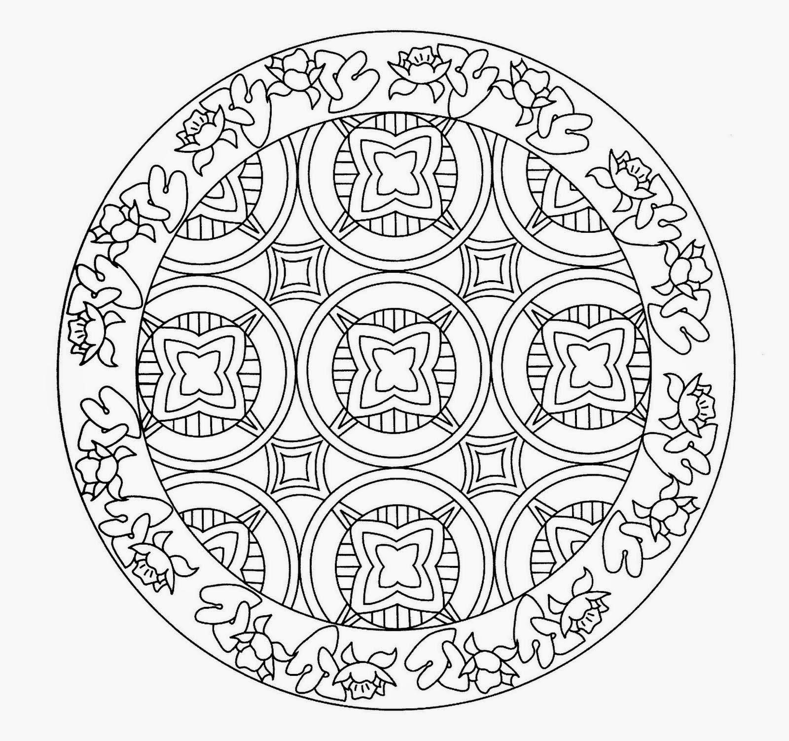 Cientual mandalas para pintar - Mandala a imprimer gratuit ...