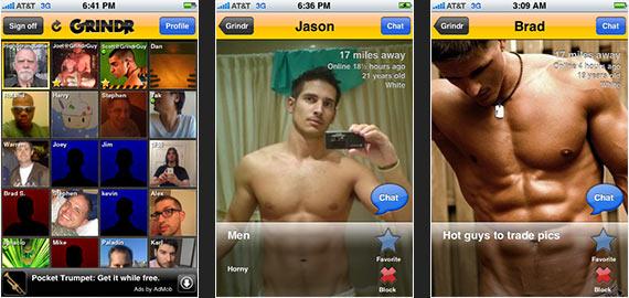 perfiles aplicación de citas desnudo
