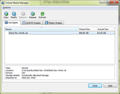 VirtualBox with Windows 8: VirtualBox Media Manager