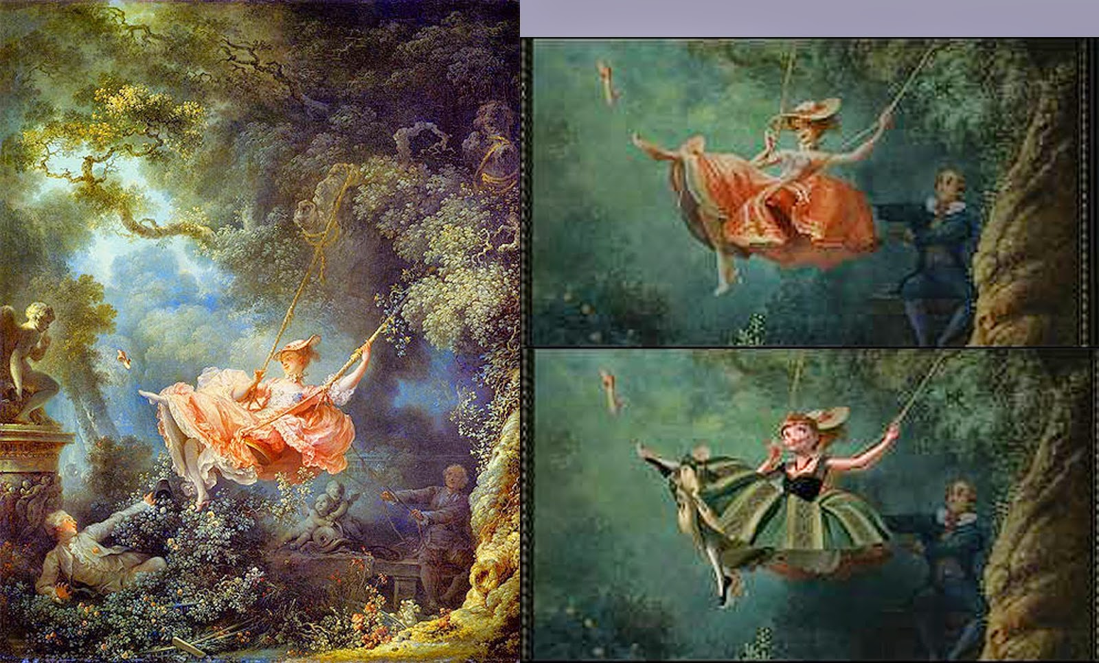 a painting analysis of fragonards swing It also has a meaning to it to depict an event • what societal factors  this  painting is called the swing by jean-honore fragonard • under which style of  art.