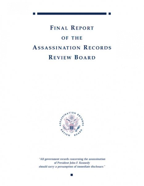 This official government report was presented to President Bill Clinton