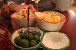 Olives and taralli in Positano, Italy
