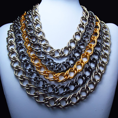 Chainmaille necklace, chuncky necklace, thick necklace, statement necklace, chain encklace, braided necklace