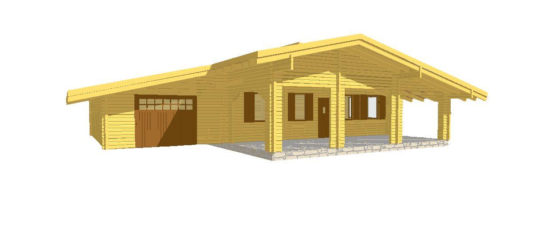 Progetti di case in legno casa 80 mq garage 40 mq for Progetti di loft di stoccaggio garage