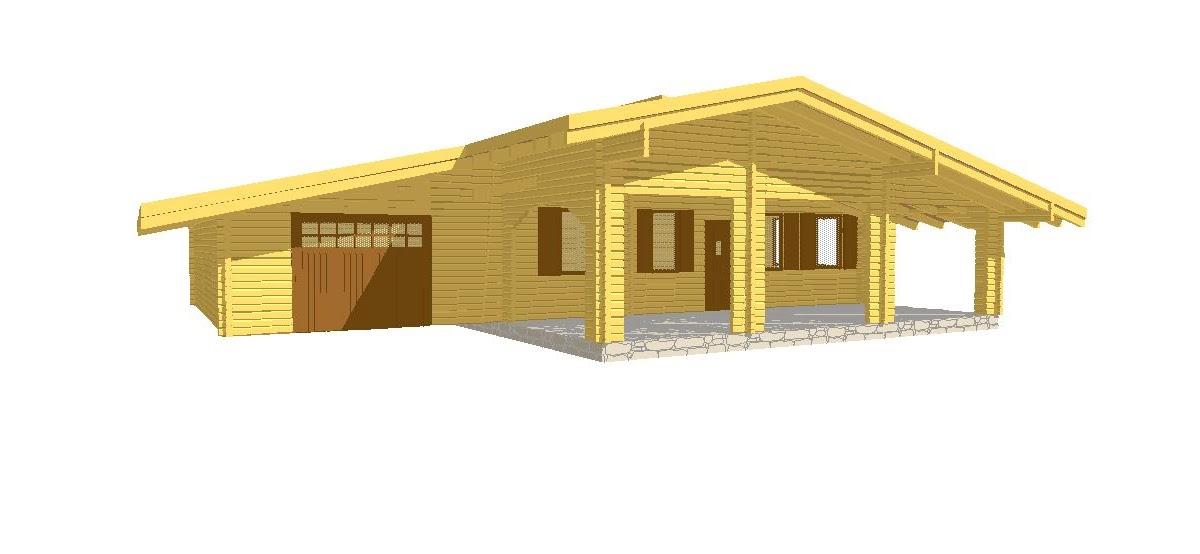 Progetti di case in legno casa 80 mq garage 40 mq for Progetti di casa sollevati