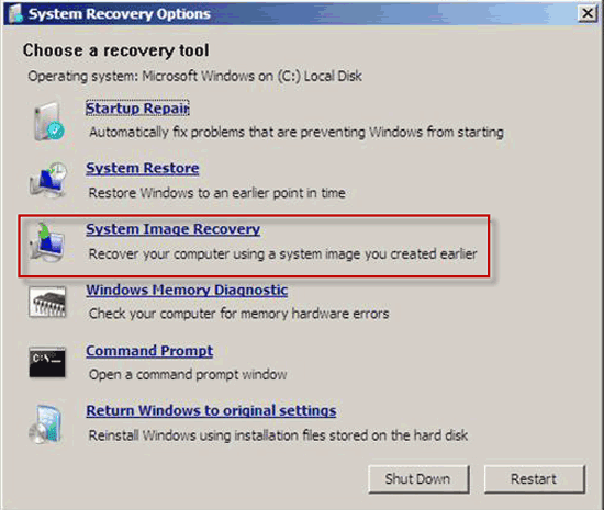 windows server 2012 r2 system recovery
