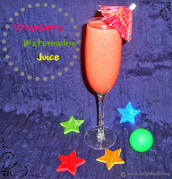 Strawberry Watermelon Juice - A Summer Drink Recipe