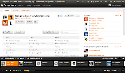 Nuvola Player Grooveshark