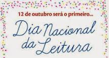 12/10 - DIA NACIONAL DA LEITURA