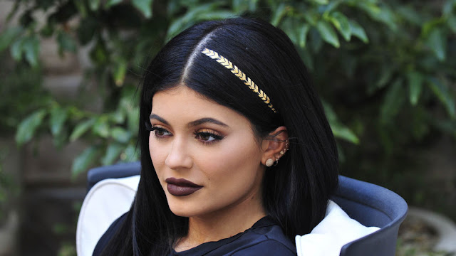 Kylie Jenner with hair tattoo