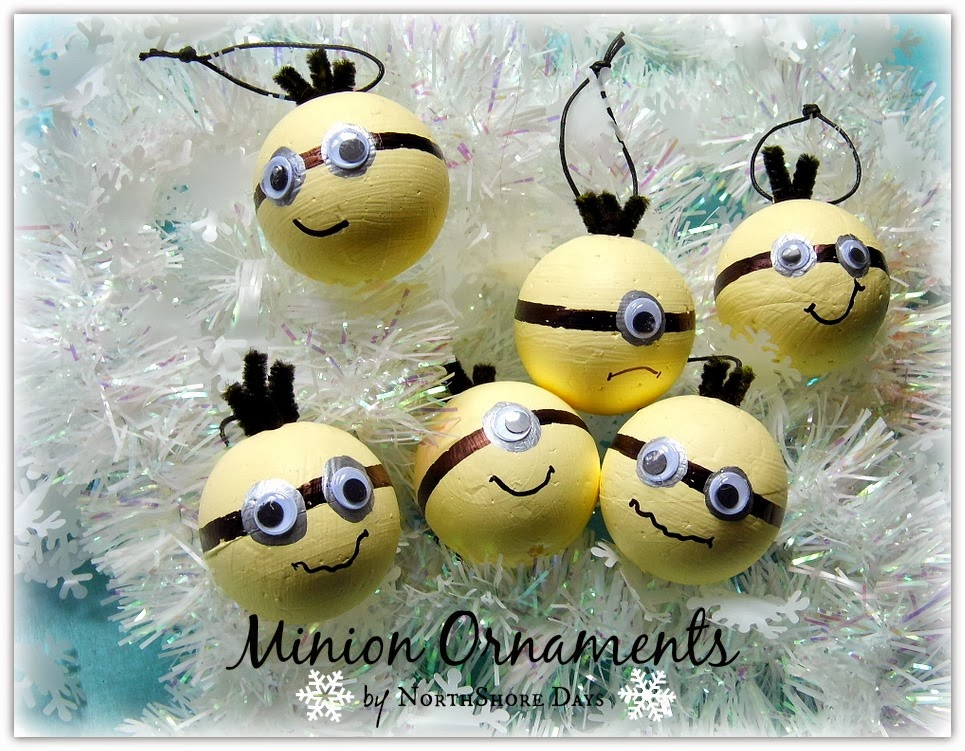 days of christmas minion ornaments