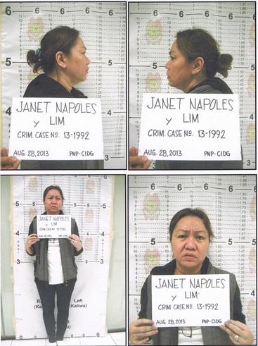 Janet lim-napoles PNP mug shots