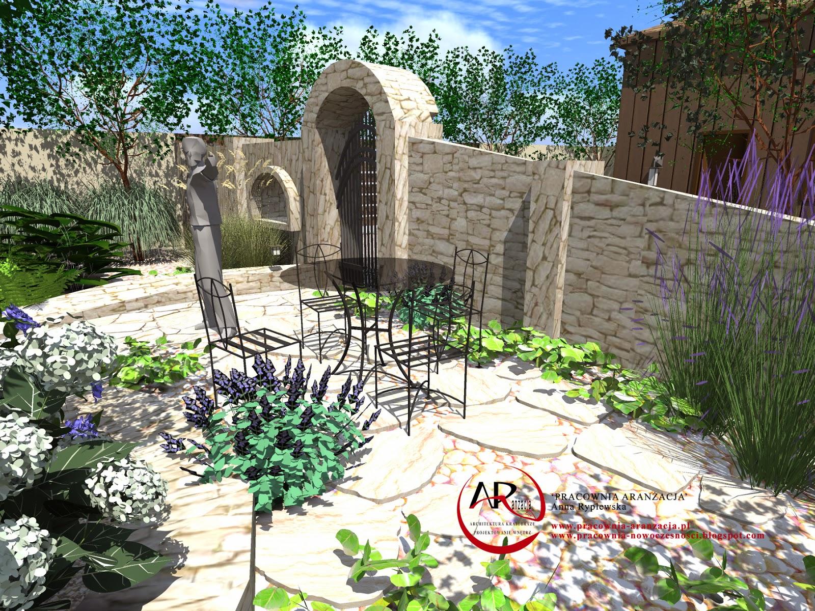 ogród w stylu toskańskim